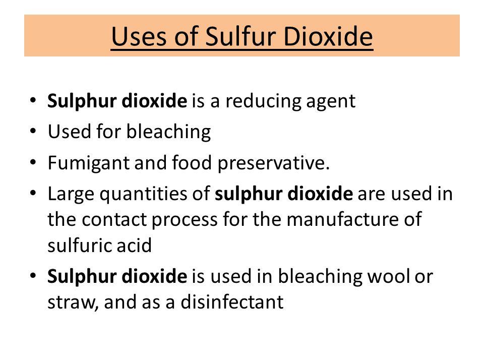 Uses Of Sulfur Sulfur & Sulfur Di...