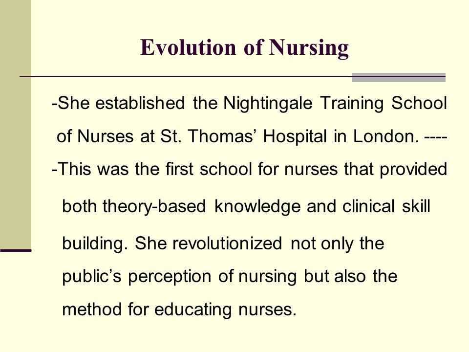the evolution of nursing