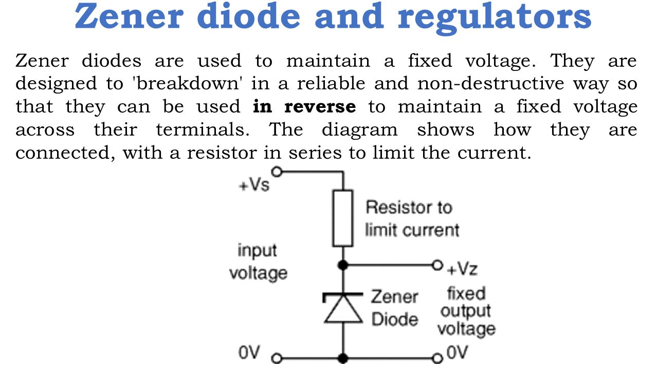 Zener diode and regulators