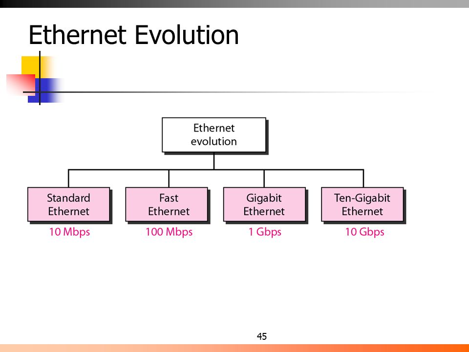 evolution of ethernet Evolution of ethernet the hold back will be the telecoms industry commonly referred to as isp (internet service providers) most of these companies have hesitated on the implementation of gigabit connections due to the current high cost.