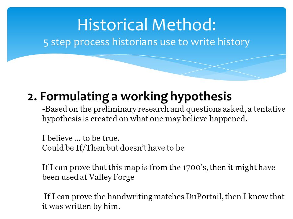 History hypothesis