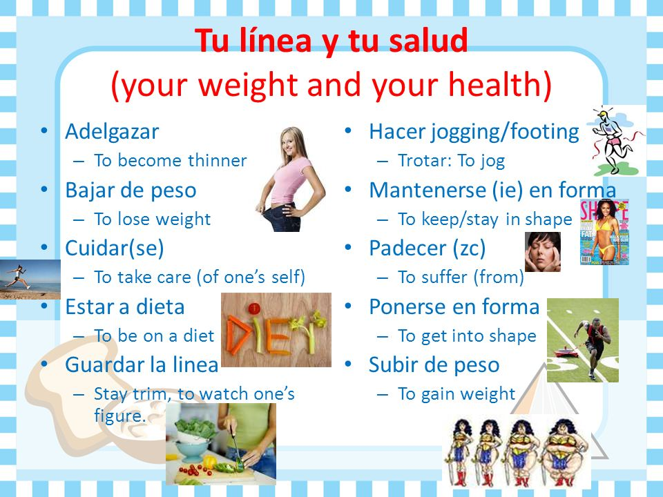 Tu línea y tu salud (your weight and your health)
