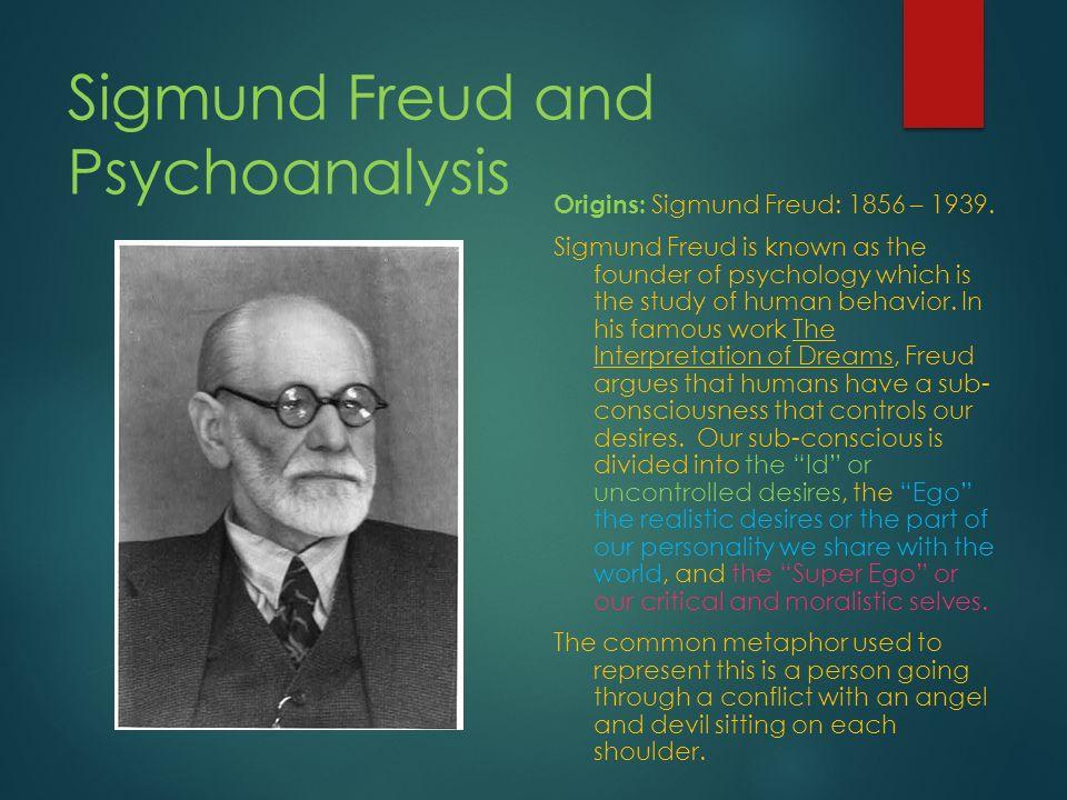 literature review on dreams sigmund freuds psychoanalysis Psychoanalytic interpretation of literature sigmund freud psychoanalytic language and imagery of people's dreams or fantasies freud views dreams.