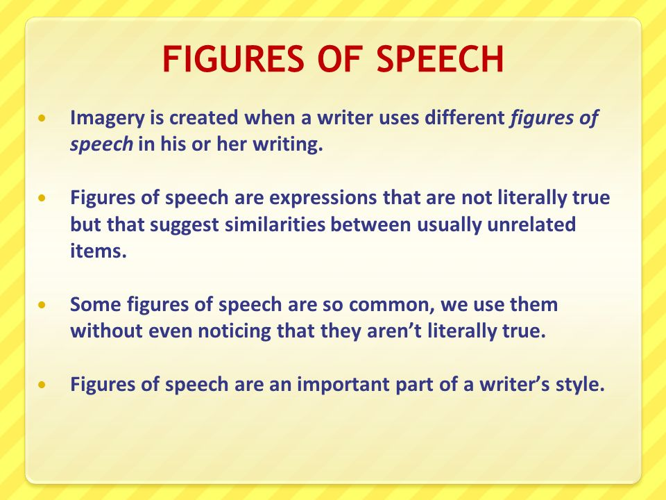 figures of speech essay 1 literary devices, techniques and figures of speech reading passages (both long and short) include questions about the authors' use of literary.