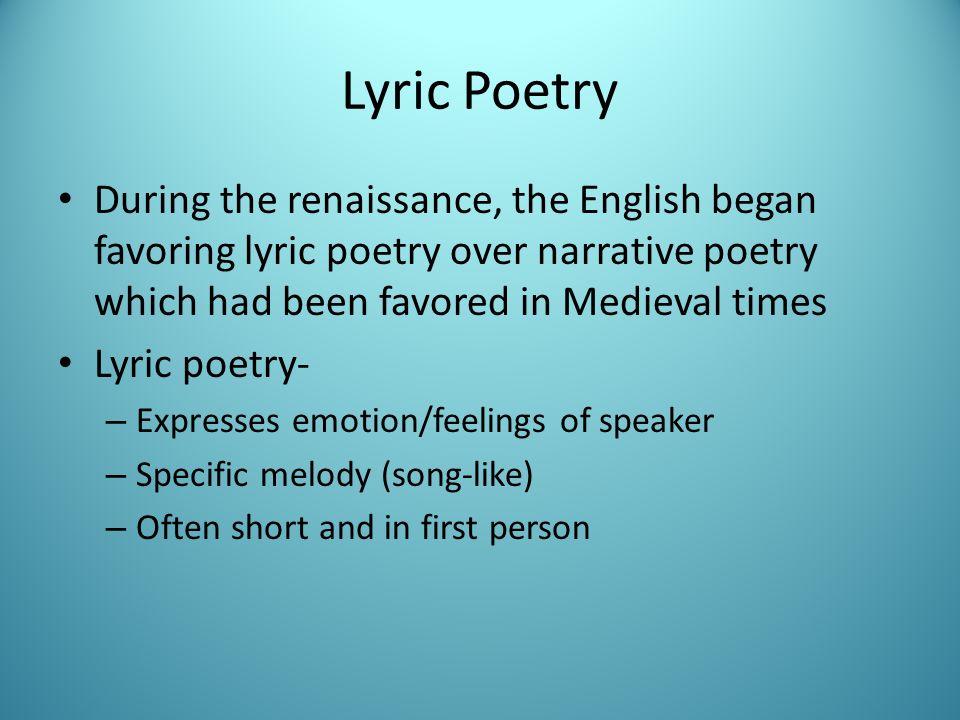 lyric poetry and harmony throughout petrarch He adapted their forms and themes from greek lyric poetry of the  direct knowledge of horace's poetry was  petrarch is a key figure in the transition from.