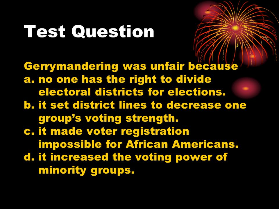Suffrage Civil Rights ppt video online download – Gerrymandering Worksheet