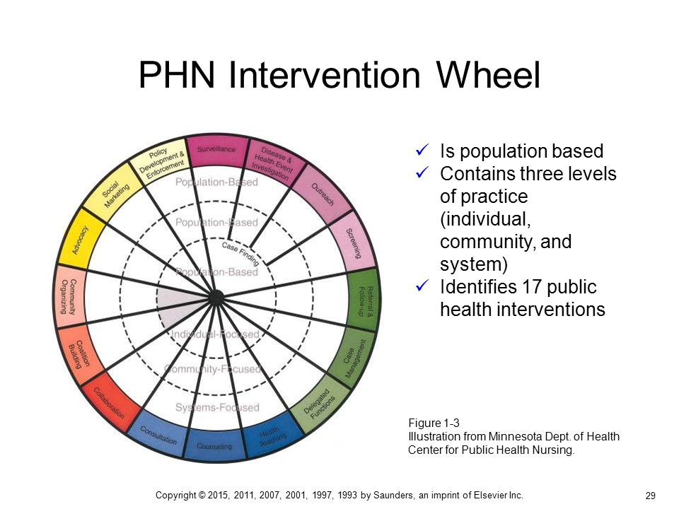 Population-Based Public Health Nursing Practice: The Intervention Wheel