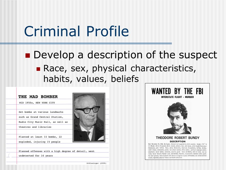 forensic psychology ppt video online  26 criminal profile