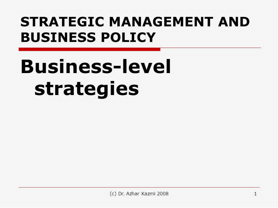Strategic Management And Business Policy Ppt Video Online Download