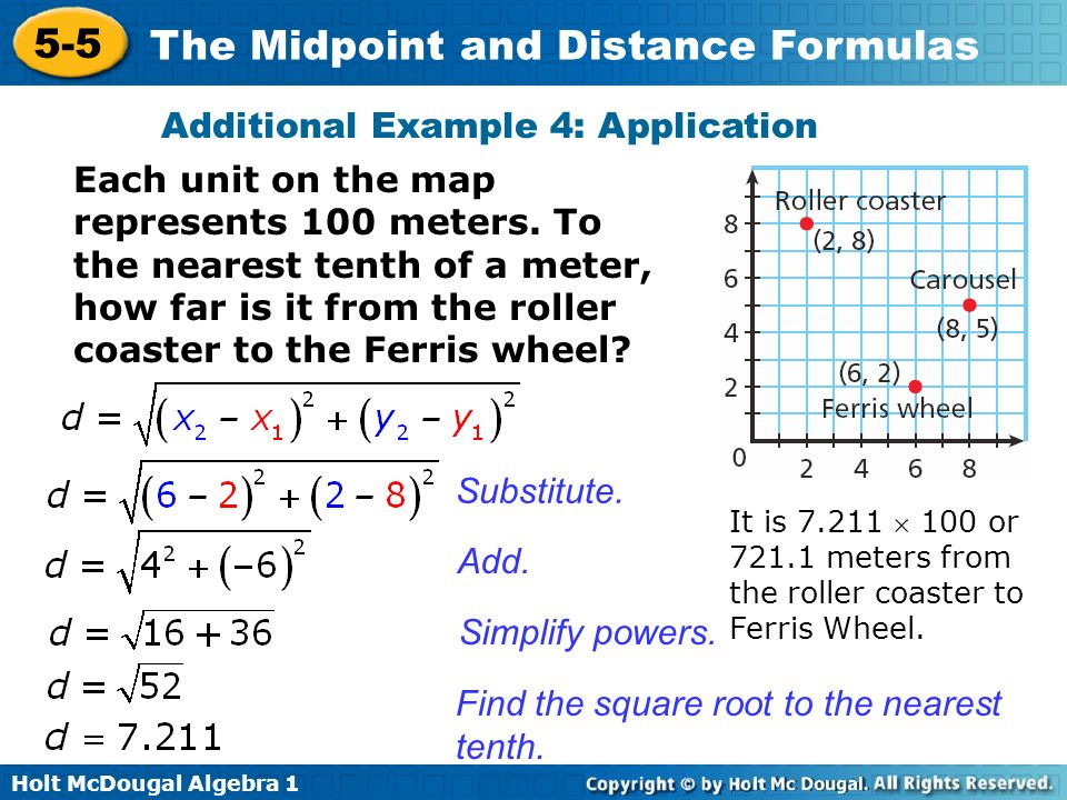 How Far Is A Meter : Objective apply the formula for midpoint ppt video