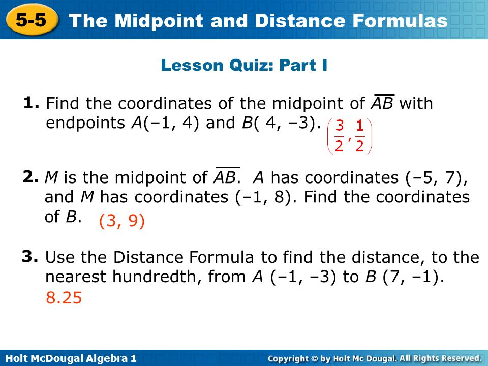 objective apply the formula for midpoint ppt video. Black Bedroom Furniture Sets. Home Design Ideas