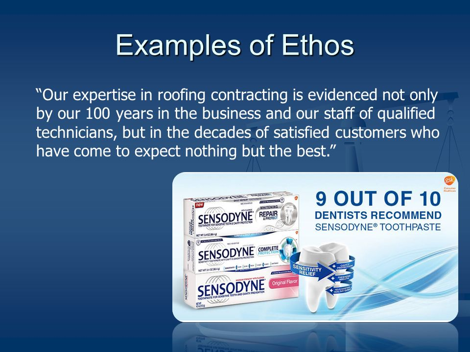 Example of a company ethos