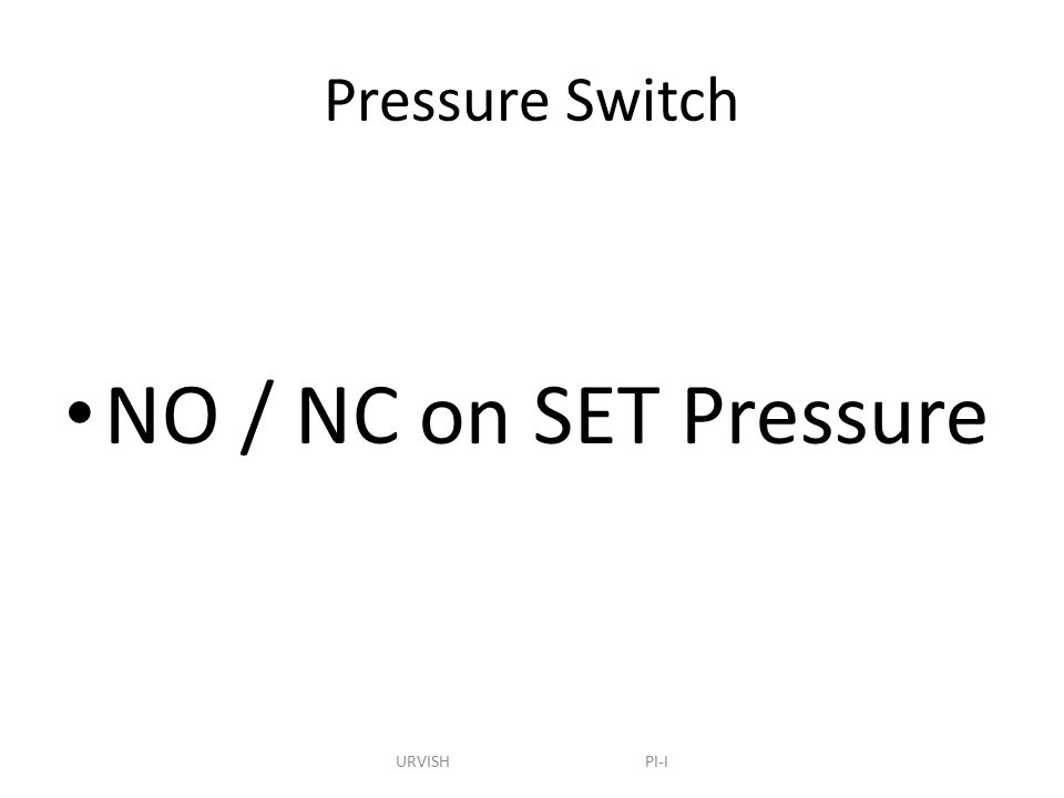 how to set pressure switch