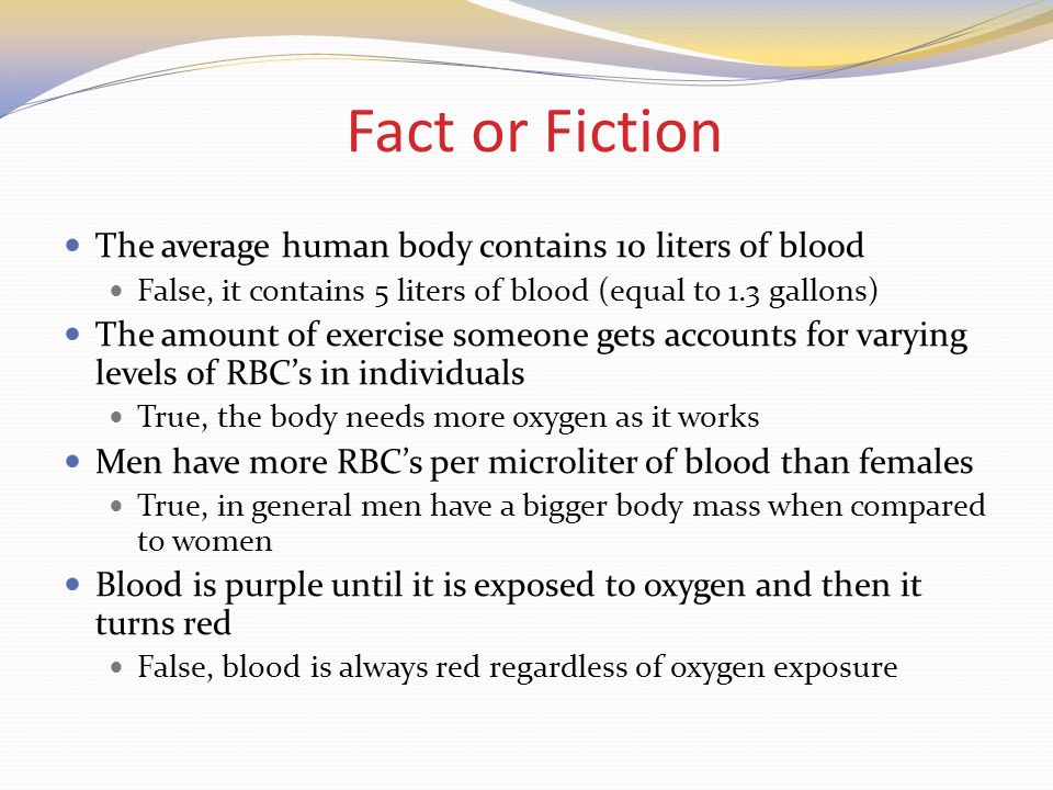 5 Liters To Gallons >> Blood and Blood Typing. - ppt video online download