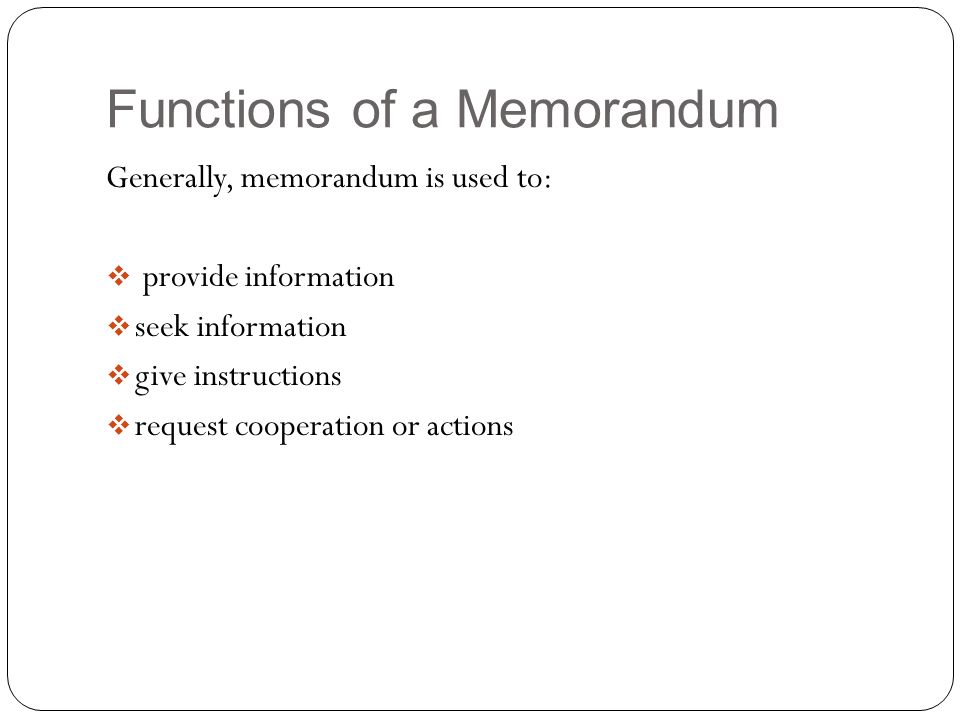 Memorandum. - Ppt Video Online Download