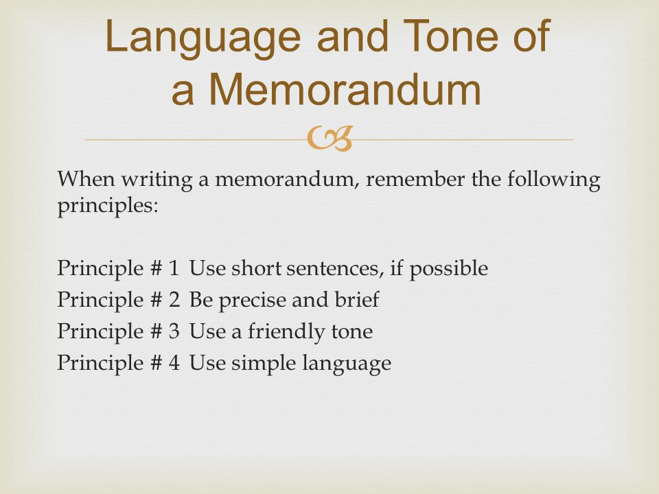 Memorandum  Ppt Video Online Download