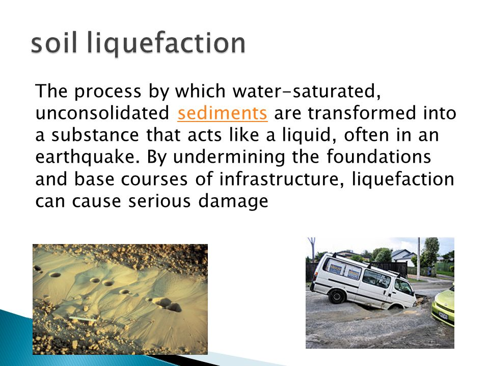 Seismic methods surface waves geoph 465 565 nov 18 ppt for Soil liquefaction