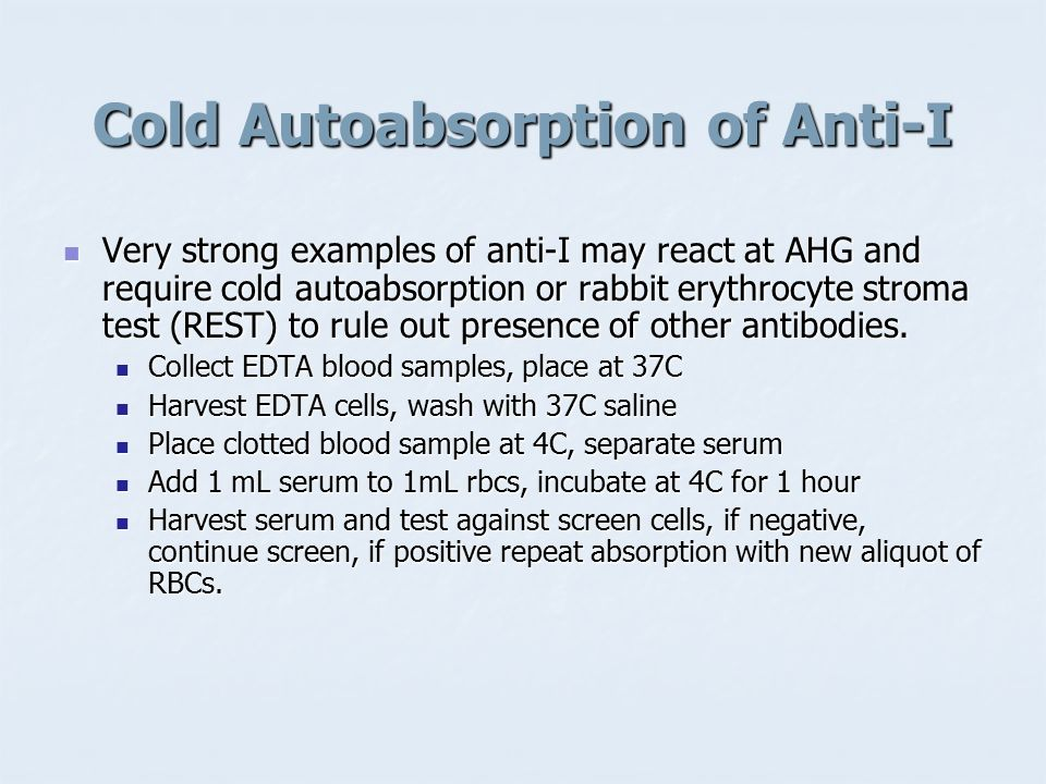 Cold Autoabsorption of Anti-I