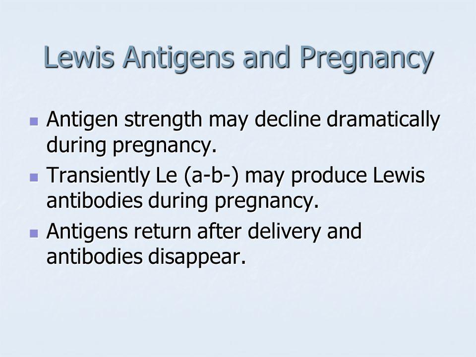 Lewis Antigens and Pregnancy