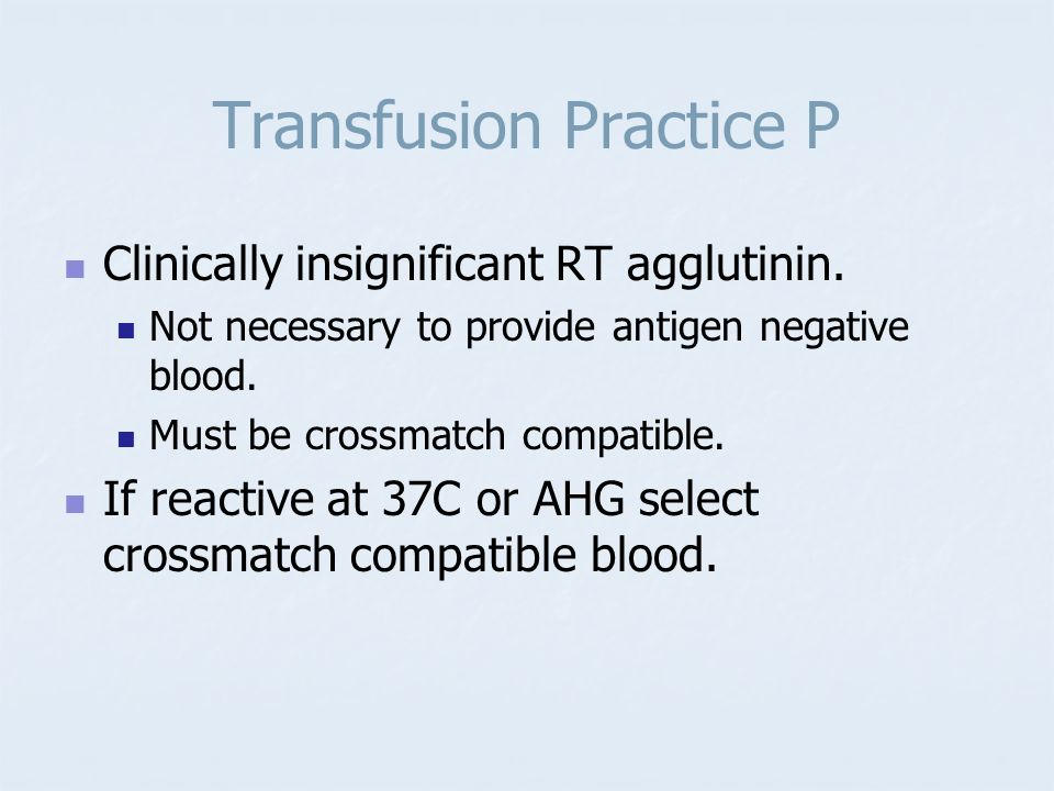 Transfusion Practice P