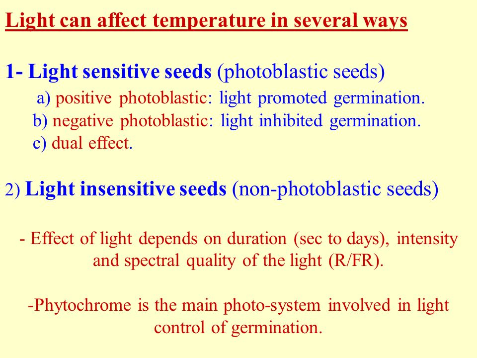 effect of temperature on seed germination pdf