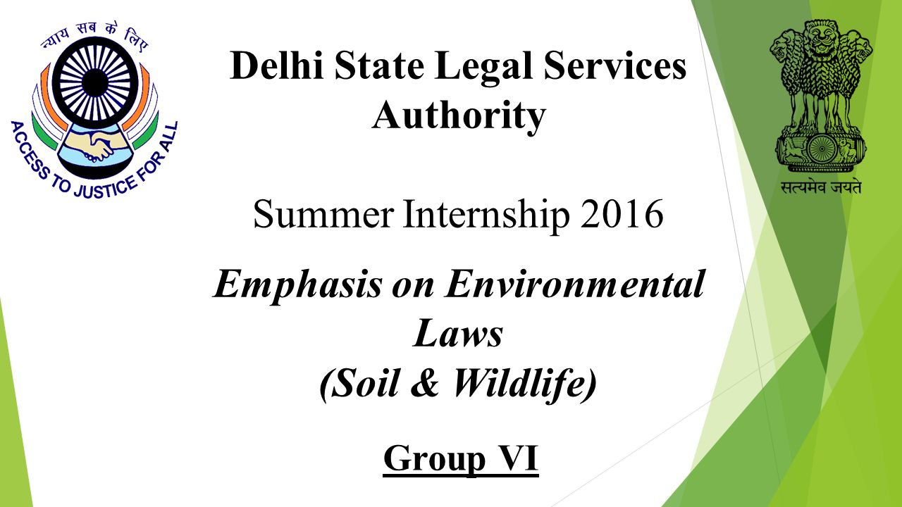 Delhi State Legal Services Authority Emphasis on Environmental Laws