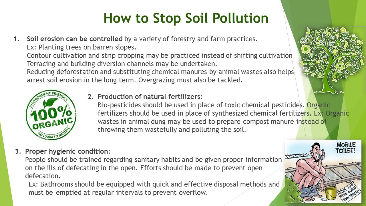 How to Stop Soil Pollution