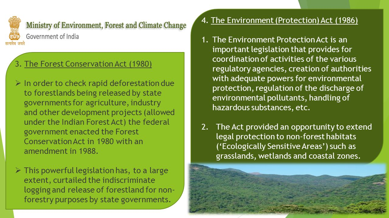 4. The Environment (Protection) Act (1986)