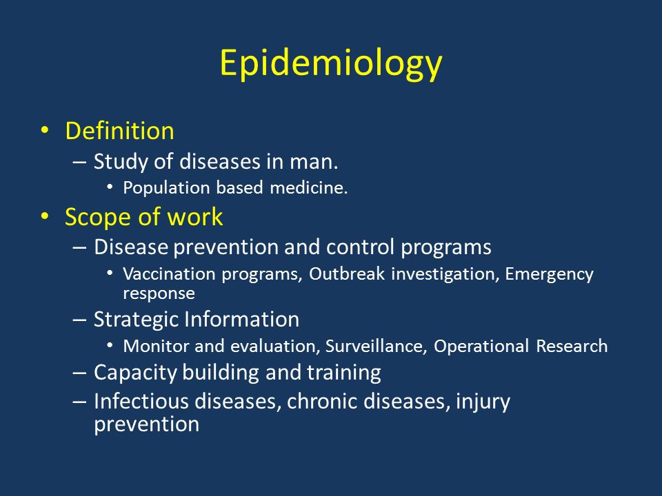 the scope and study of epidemiology Journal of epidemiology and public health reviews is a multidisciplinary journal and plans to impact the public health by publishing high quality peer reviewed content which focused on innovative strategies to advance the global health.