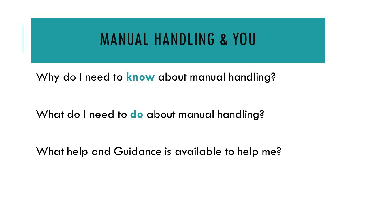 Manual Handling Assessment Template  Dublin Institute of