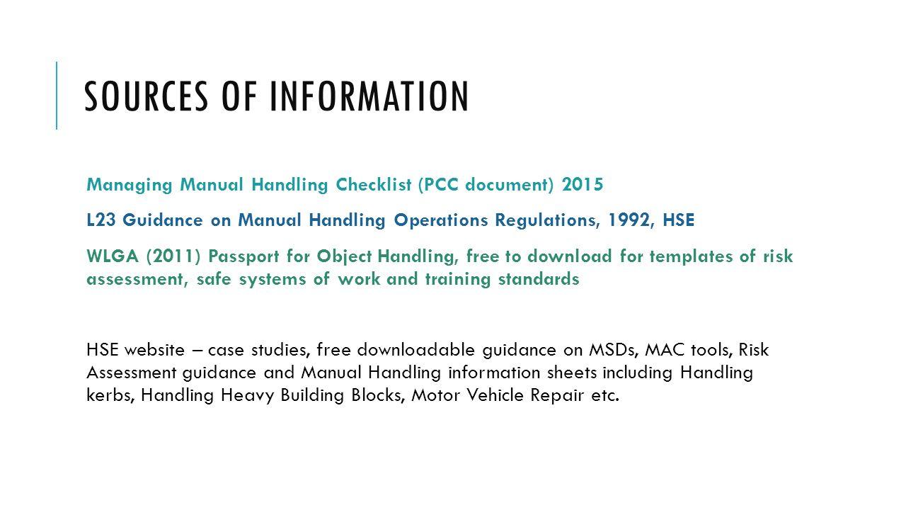 managing manual handling - ppt video online download, Presentation templates