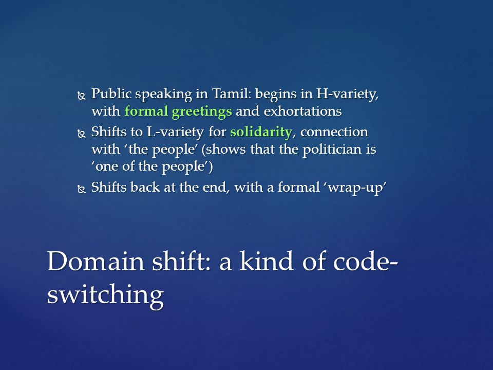 dissertation on code switching The purpose of this study was to investigate the functions of code-switching (cs) in six hours tape-recorded speech included speakers of.