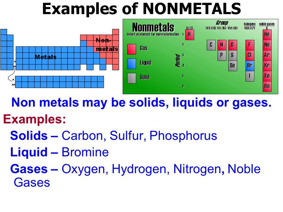 hydrogen metal or nonmetal