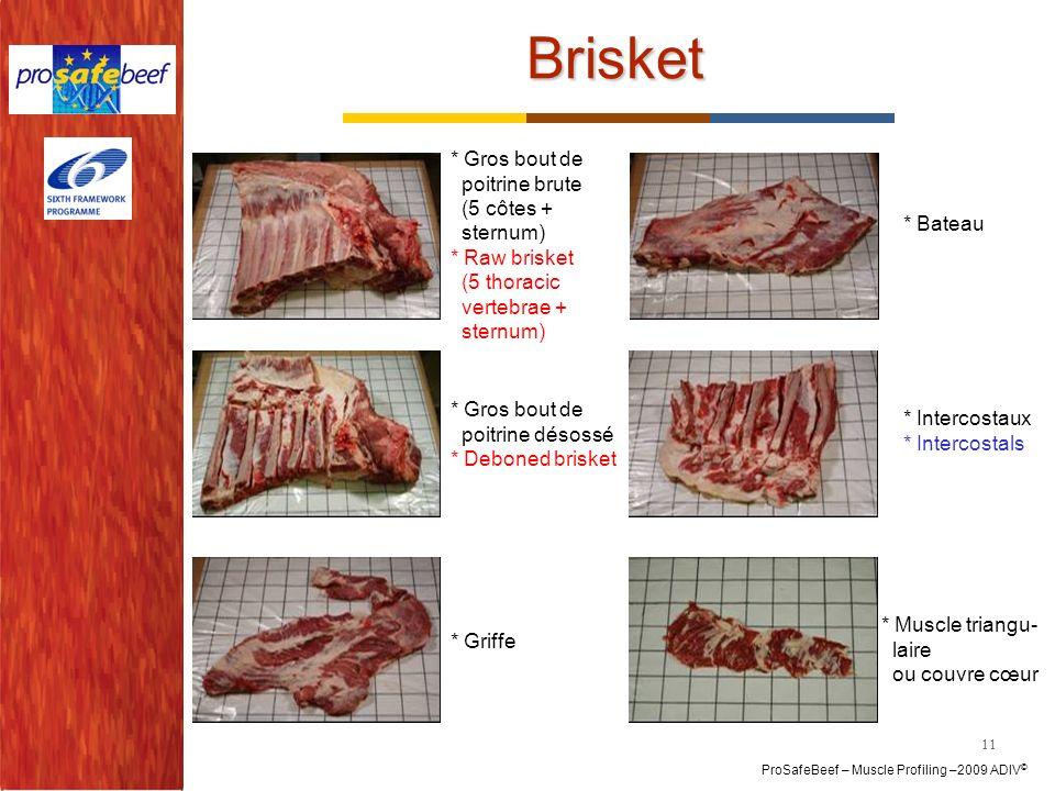 Brisket * Gros bout de poitrine brute (5 côtes + sternum)