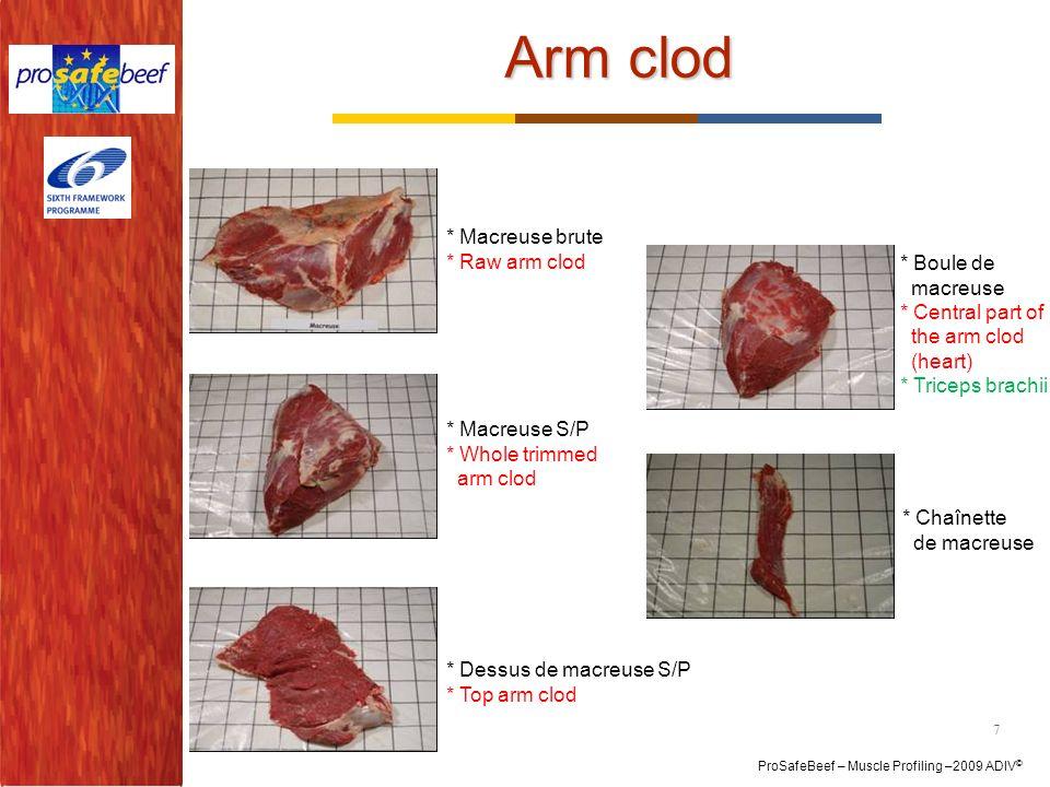 Arm clod * Macreuse brute * Raw arm clod * Boule de macreuse