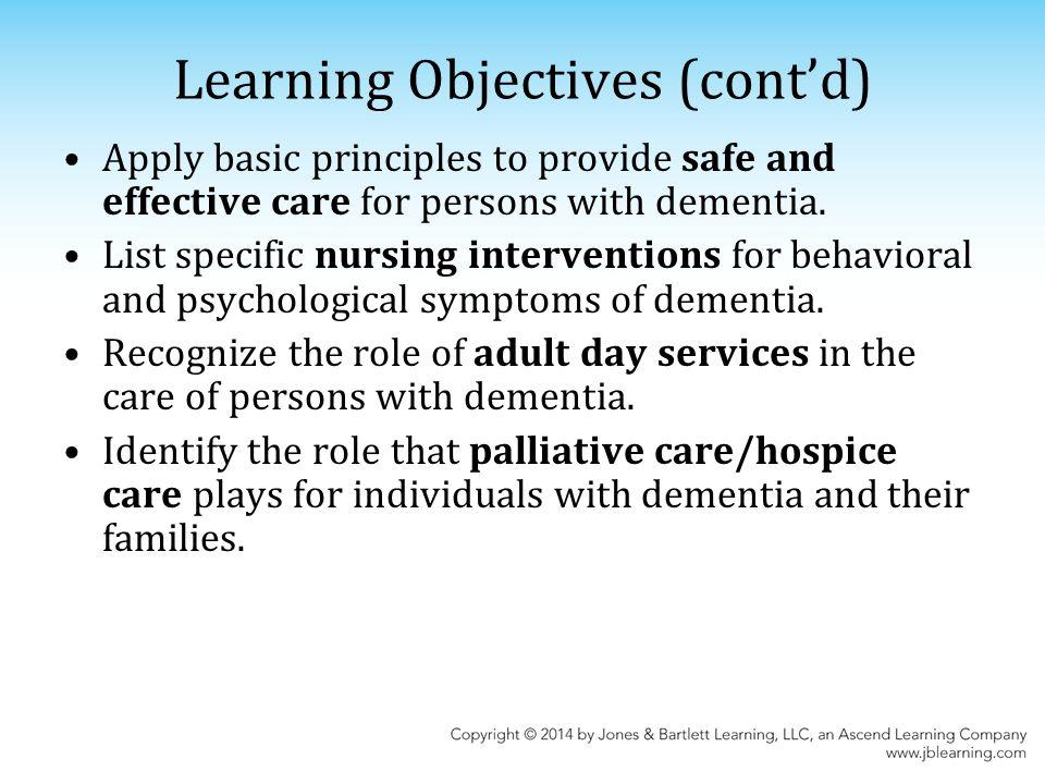 nursing objectives