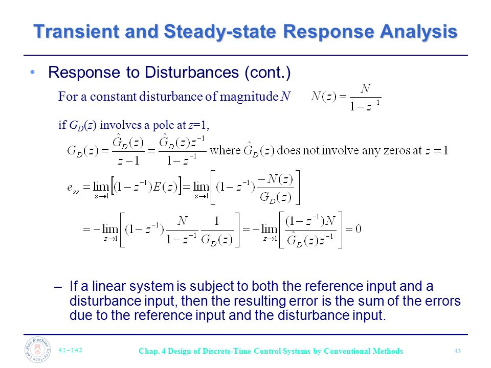 Transient and Steady-state Response Analysis