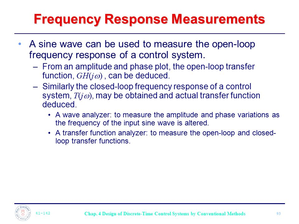 Frequency Response Measurements