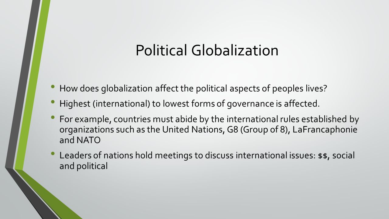 globalization and political policy essay The important point is that economic tensions within the eu, and the induced political tensions, are as least as much due to eu internal policy as to globalization both eu expansion and globalization are elite projects, driven by the eu's brussels' bureaucracy and european capital.