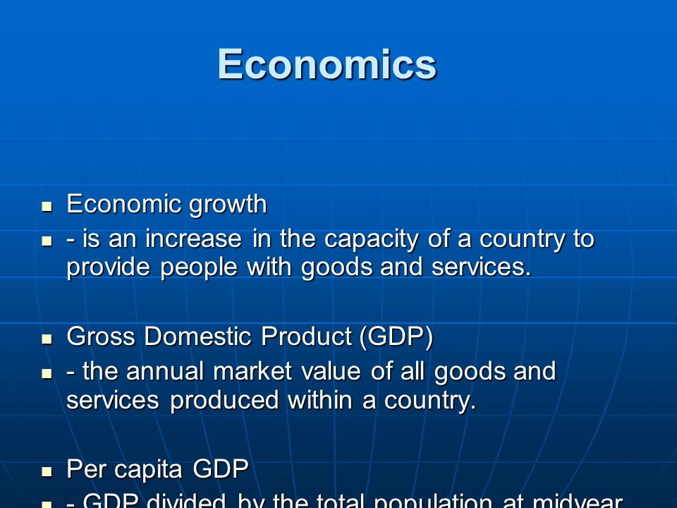 Economics Economic growth
