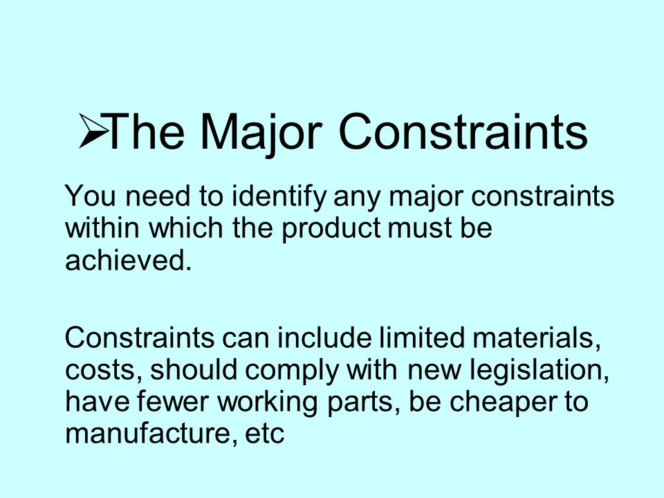 major constraints on small business in I received quite a few positive responses to my small business cio post last week so i thought i'd continue the topic this week constraints are advantages limited.