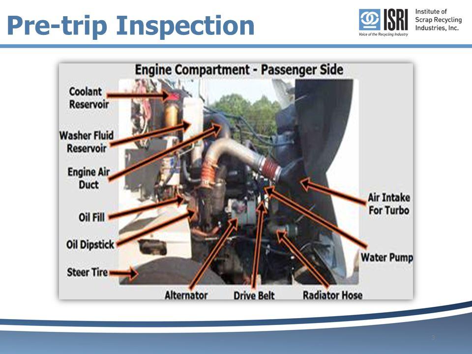 Pre Trip Inspection on Semi Engine Parts Diagram