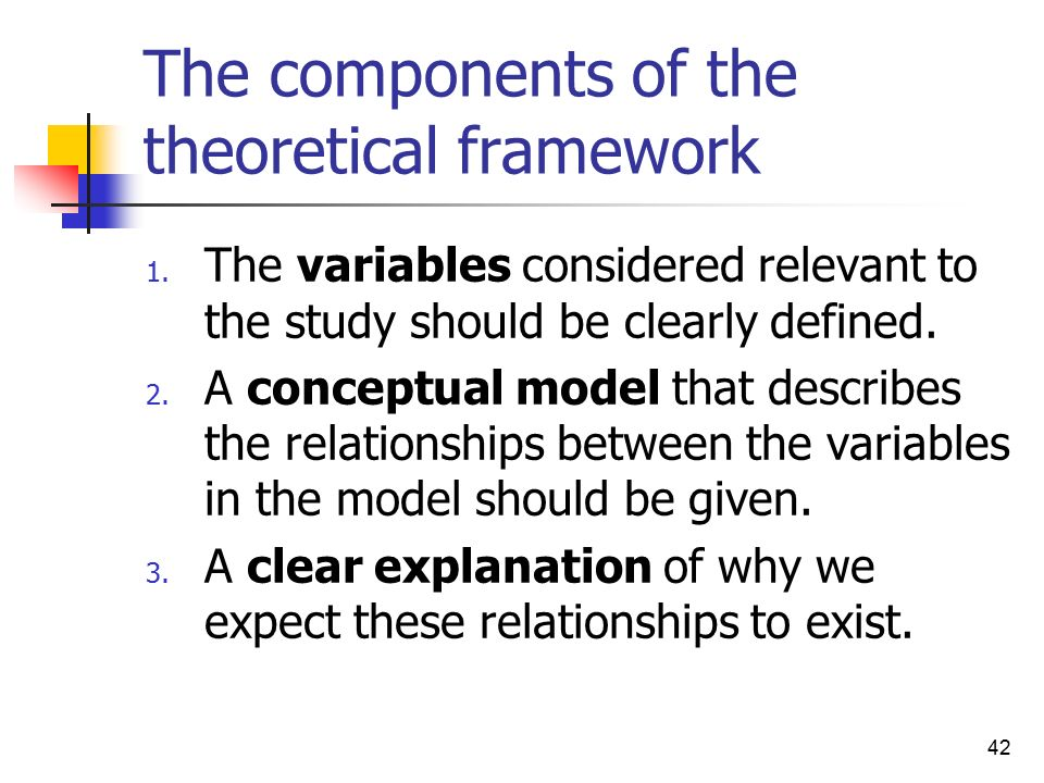 theoretical framework and hypothesis A theoretical framework consists of concepts and, together with their definitions and reference to relevant scholarly literature, existing theory that is used for your particular study the theoretical framework must demonstrate an understanding of theories and concepts that are relevant to the topic of your research paper and that relate to.