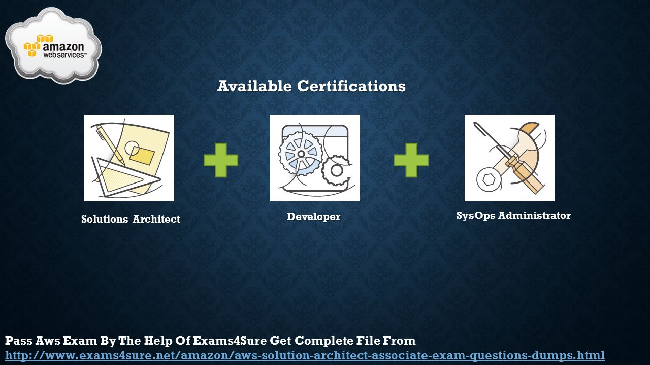 Aws aws certified solutions architect ppt video online download 4 available certifications 1betcityfo Images
