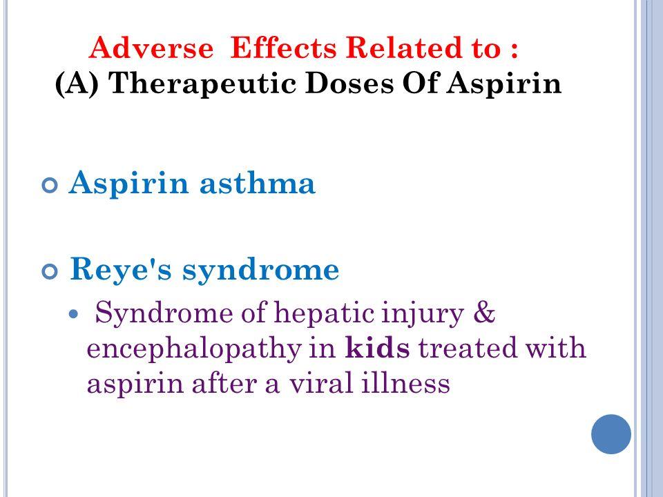 Aspirin Side Effects Fda