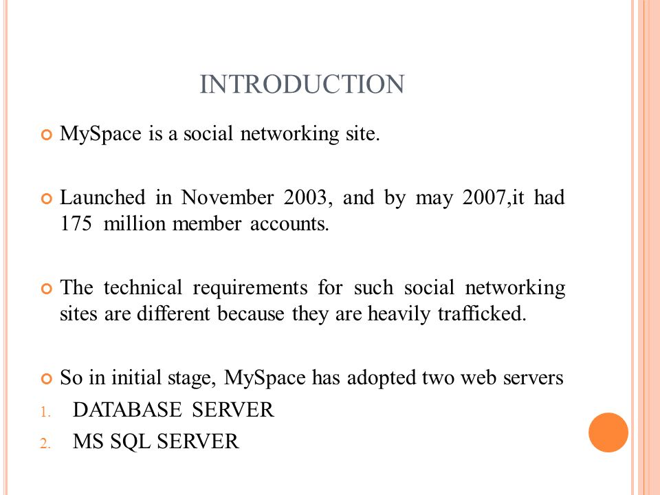 case study of social networking website