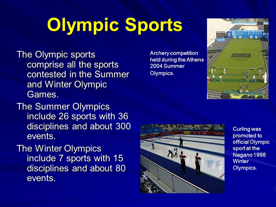 All sports in the olympics
