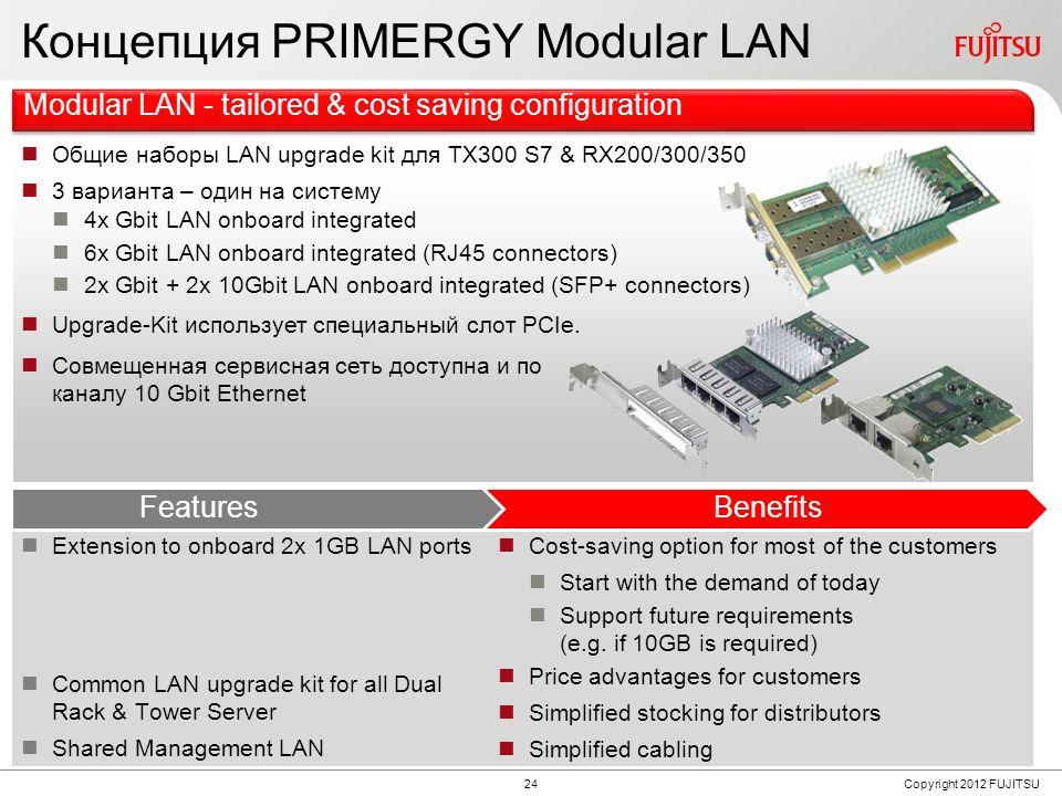 PRIMERGY Modular LAN Concept
