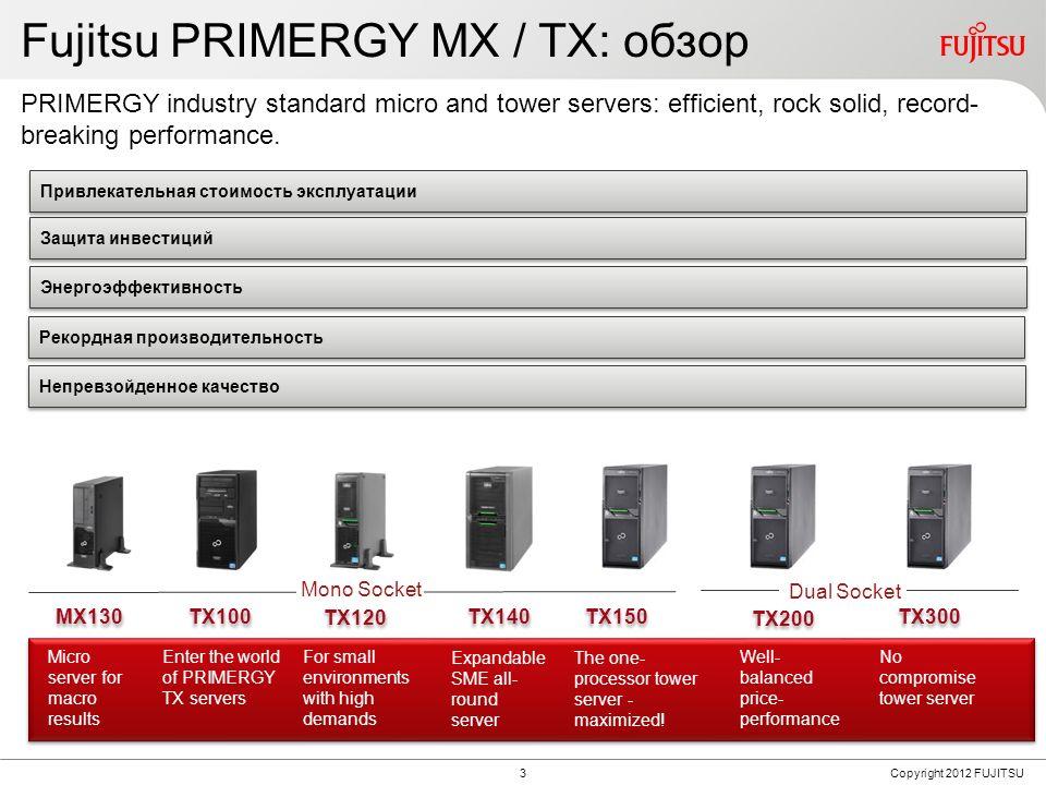 Fujitsu PRIMERGY MX + TX Tower Server