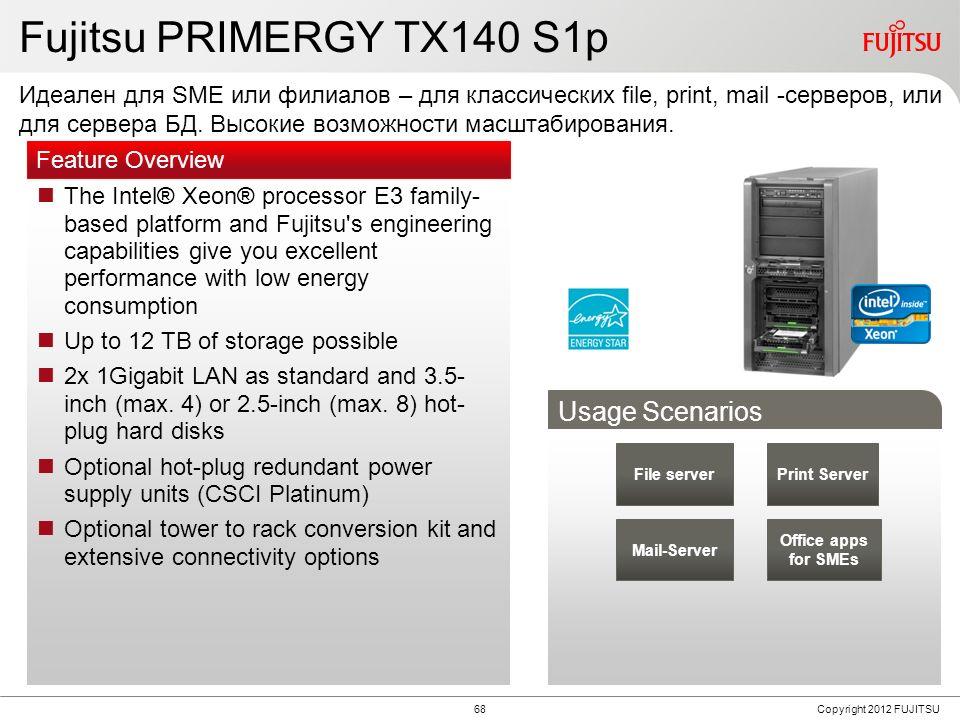 PRIMERGY TX140 S1p vs. TX140 S1 TX140 S1p TX140 S1 CPU